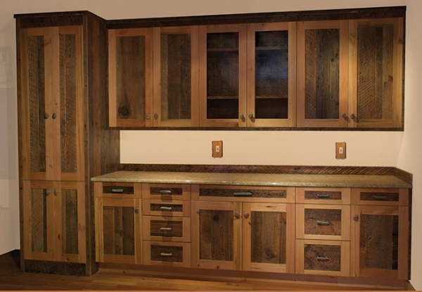 Barn Wood Cabinets Kitchen